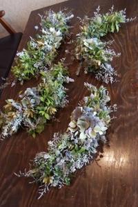 秋色紫陽花のガーランド - 遊工房cooほっこり通信