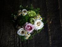 ご結婚記念日に奥様へのタルト型アレンジメント。2019/07/19。 - 札幌 花屋 meLL flowers