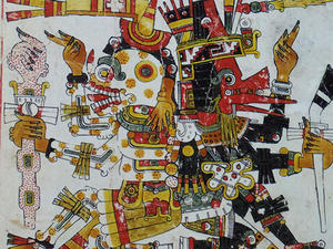 美術全集夜話・第41夜,メキシコあたりは古代でもポップな様式。 - 虚にして古を聴く