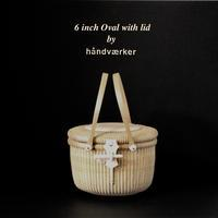 6 inch Oval with lid - handvaerker ~365 days of Nantucket Basket~
