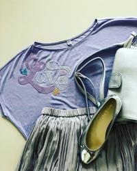 メタルビーズ夏のTシャツ - マレエモンテの日々