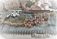 スワロフスキーの花ブレスレット - Bijoux  du  Bonheur ~ビジュー ドゥ ボヌール~