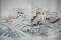古布木綿ウサギ子供着物Japanese Antiqeu Textile Child kimono Rabbit - 京都から古布のご紹介