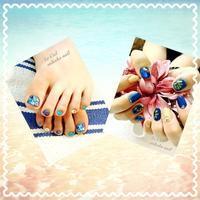 ☆ネイルチェンジ☆夏ネイル - のんびりamiの日記