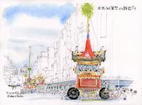 2019祇園祭山鉾巡行辻回し - 風と雲
