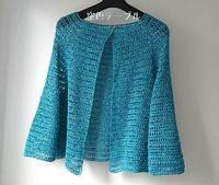長編みベースのカーディガン - 空色テーブル  編み物レッスン