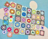 かぎ針編みで咲かせよう季節のお花モチーフ200の編み図デザイン2 - 作ってる時間が楽しいから