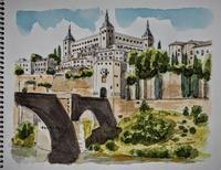 スペインの旅:トレド (2019年5月15日) - オヤジの水彩画集