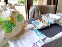 明日開催豊洲手作り市にワークショップ出店 - MIKS fabricstencil