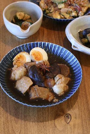 豚の角煮と長芋素麺 -