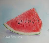 西瓜の絵 暑中お見舞い申し上げます! - miwa-watercolor-garden
