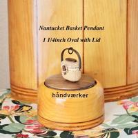 1.5 inch Oval with Lid - handvaerker ~365 days of Nantucket Basket~