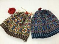 フェアアイル 編み込み帽子キット - スコットランドチェック