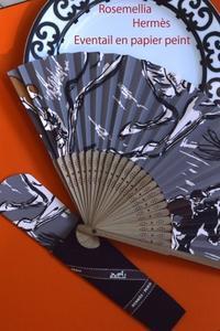 Hermès壁紙で作る扇子レッスン - ローズメリア西鎌倉/パリ花レッスンと旬なCoquette.715    CHICFLIC 各バッグレッスン教室