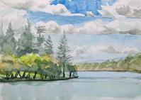 蓼科湖に綿雲 - ryuuの手習い
