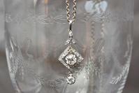 アールデコ期のフランス製ダイヤモンドペンダント - AntiqueJewellery GoodWill