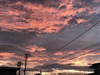 虹の合図の同じ日・・・「夕焼けは怪しげなは夏空」編 - ドライフラワーギャラリー⁂ふくことカフェ