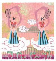 作品「sawarabi girls」 - まゆみん MAYUMIN Illustration Arts