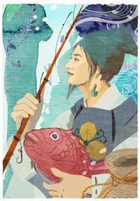 作品「若き日のえびすさま」 - まゆみん MAYUMIN Illustration Arts