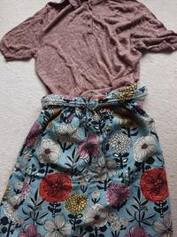 北欧風花柄スカート - うららフェルトライフ