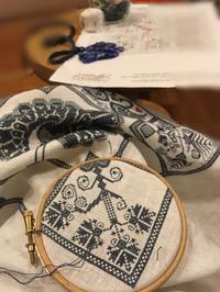 Linen and Threads Mystery Sampler 12 - いとの色