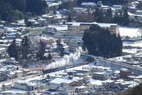 雪景色の鬼怒川の街- 2017年・東武鬼怒川線 - - ねこの撮った汽車