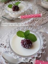 冷たいデザート*ミルクゼリー - nanako*sweets-cafe♪