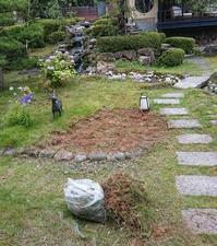 2日間かけて中庭をきれいにしました♪ - 金沢犀川温泉 川端の湯宿「滝亭」BLOG