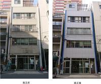 大阪市西区石材調模様仕上げ塗装 - 北岸塗装工業施工日誌