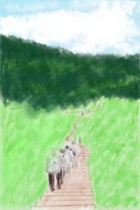 (長野旅行)入笠山 - たなかきょおこ-旅する絵描きの絵日記/Kyoko Tanaka Illustrated Diary