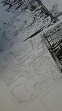 考えながら下描き - HIRAKAWA JUN 平川 準 描いたり弾いたり