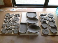 my窯初焼成~素焼き~ - 手と手と手