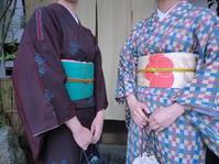 レトロなお着物、帯の組み合わせ。 - 京都嵐山 着物レンタル「遊月]・・・徒然日記