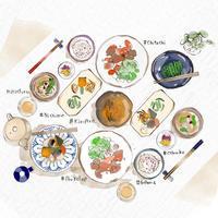大戸屋さんの大人の食育セミナー イラストレーション - まゆみん MAYUMIN Illustration Arts