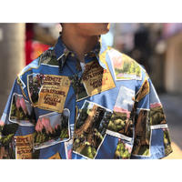 "~1990's ""Reyn spooner"" collage printed S/S shirt - BAYSON BLOG"
