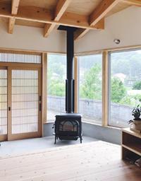 家からの眺めを背景にしてみました〜! - 薪おじさんの気まぐれブログ(四国で薪ストーブ)