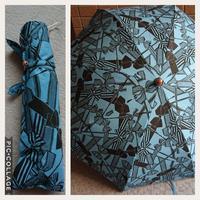 リボン柄折り畳み日傘 - うららフェルトライフ