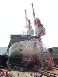 阪九フェリー、スクラバー搭載新造船「せっつ」進水 - 船が好きなんです.com