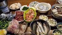 恒例のご近所バーベキュー - 牡蠣を煮ていた午後
