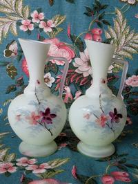 ペアの着せウラン・ガラスの花瓶 - Der Liebling ~蚤の市フリークの雑貨手帖3冊目~