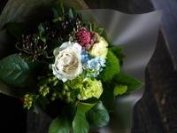 お知り合いのスープカレー屋さんにご挨拶の花束。2019/08/04。 - 札幌 花屋 meLL flowers