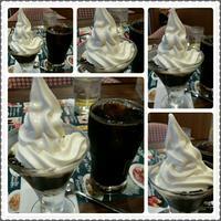 コーヒーゼリーのミニサンデーとアイスコーヒー♪ - コグマの気持ち