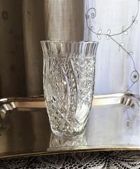 カットクリスタル花瓶9Hold(Aiza8.5) - スペイン・バルセロナ・アンティーク gyu's shop