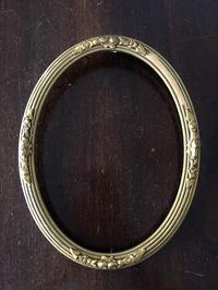 木製金彩楕円額930Hold(Okum8.5) - スペイン・バルセロナ・アンティーク gyu's shop