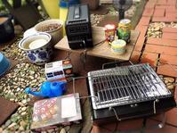 庭でミニ焼き鳥パーティ - 貧乏なりに食べ歩く 第二幕