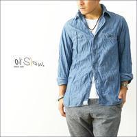 orslow [オアスロウ] CHAMBRAY SHIRTS BLUE [01-8070-84] シャンブレーシャツ ブルー 青 MEN'S - refalt blog