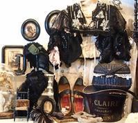 パリの蚤の市から大阪&池袋*黒いヘッドドレスや古いシューズ - BLEU CURACAO FRANCE