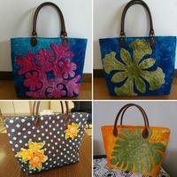 ハワイアンキルトのバッグたち - グランマの戯れ