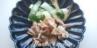 夏バテ防止に豚バラの梅和え - 料理研究家ブログ行長万里  日本全国 美味しい話