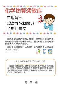 高知県の化学物質過敏症 啓発チラシ - 化学物質過敏症・風のたより2